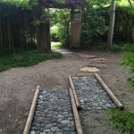 two paths to an archway