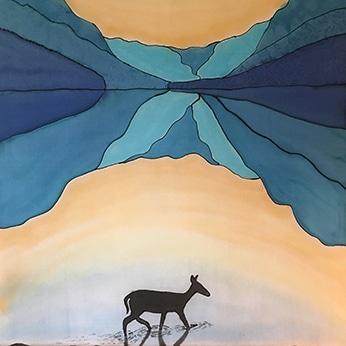 My hobby, silk painting